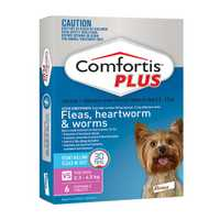 Comfortis Plus Extra Small Pink 2 X 6 Pack Pet: Dog Category: Dog Supplies  Size: 0.2kg  Rich...