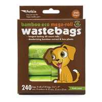 Petkin Bamboo Eco Mega Roll Wastebags 240 Pack Pet: Dog Category: Dog Supplies  Size: 0.2kg  Rich...