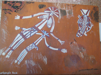 Aboriginal Painting Unframed has been in my Man cave for the past 20 years.Genuine painting.Pick Up...