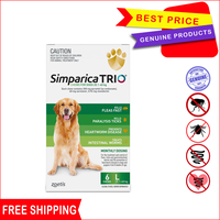 Simparica TRIO is a tasty monthly chew that protects your dog from three of the most common parasites:...