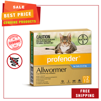 Profender is a topical treatment for mixed parasitic infections caused by roundworms, lungworms...