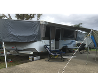 Excellent condition.Brand new Fiama awning.Brand new tyres. Double step fitted.2 pole carriers front...
