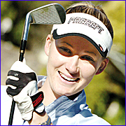 Sarah-Jane Kenyon tees off for PGA glory.