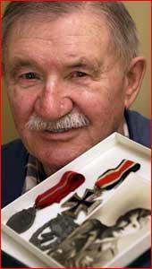 Karl Bohn?s German war medals have been stolen. Picture: DEBBIE DRUCE?