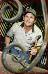 2003 world champion creative blacksmith Dan Davie.   Picture: DEBBIE DRUCE