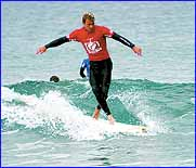 Sunshine Coast surfer Grant Thomas is the favourite to win the Golden Breed longboard titles in Victoria.