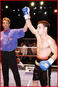 Michael Katsidis celebrates a recent victory. Picture: CARLEY FORSTER