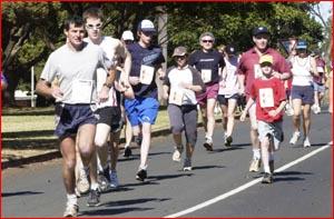 Toowoomba runners in the Terry Fox Run.     Picture: SCOTT FLETCHER