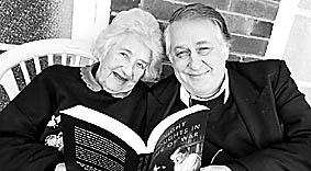 NOVEL IDEAS: Bob Ellis with his mother Elsie Ellis at her East Lismore home. Picture: JACKLYN WAGNER