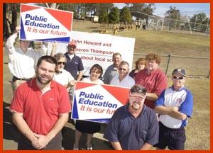 QTU  members  at Lockyer District State High School. Picture: SCOTT FLETCHER