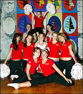 THREE CHEERS: Elanora High School?s cheerleading squad will be performing at the NRL grand final and national final.