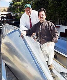 WINDMILL MEN: Gold Coast-based Tidal Energy Systems International directors Aaron Davidson and Craig Hill. D87280B
