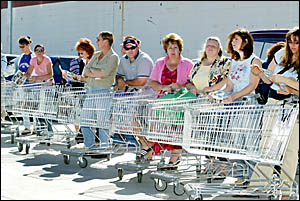Ladies (and gents), start your trolleys