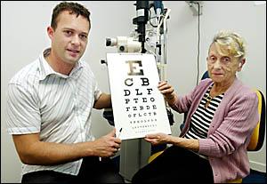 NEED FOR VISION: Optometrist Paul Sampson