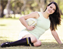 Lauren Hastings, 16, is a model and rugby union player. Photo: Chris McCormack