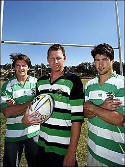 ALLEYGATORS hopefuls, Damien Webb, Dean Jensen and Matt Wildman, get ready for grand final action. D84231