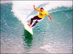 ?Sput? in action in the final at Bells Beach