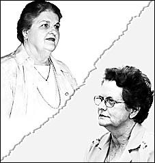TOP LEFT CORNER: Senior Citizens Association president Norma Drury. TOP RIGHT CORNER: Sylvia Smith.