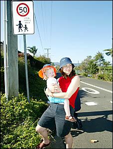 BARNBY Street resident Gretel Jones with her daughter, Matilda opposse nearby development. D83971a