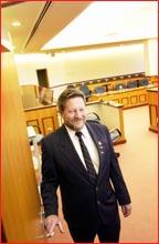 Bailiff Merv Horsten. Picture: KEVIN FARMER