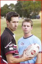 A-grade players Mark Teki and Matt Bowe. Picture: SCOTT FLETCHER