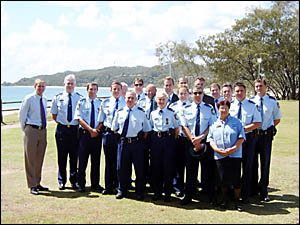 The police officers who received the awards at Byron Bay last week.