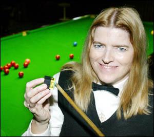 AUSTRALIAN women?s open snooker champion Megan Fullerton chalks up ahead of this weekend?s Twin Towns Snooker Classic.