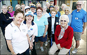 OUT AND ABOUT: Walker from the Just Walk It program at Robina Town Centre meet twice a week and walk around the centre.