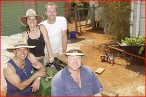 The Backyard Blitz  this week made over the garden of young hero Jye Rowlings. Picture: NEVILLE MADSEN