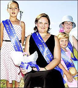 Showgirls: from left, Willa Scarrabelotti, 9; Jane Wilson;  Tara Coles, 5; and Skye Bellman, 17.