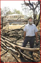 Graeme Allum?s home was spared during Friday?s devastating fires. Picture: SCOTT FLETCHER