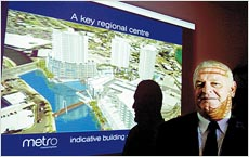 Harry Reed presents his metro concept for Maroochydore CBD.