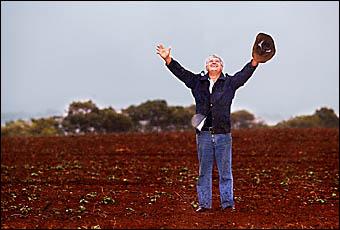 CUDGEN farmer Sam Raso is a happy man after receiving