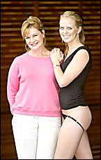 BANORA Point briefs designer Jan Digney with model Sophie Gard