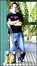 SURVIVOR: Marty Mayberry lived through meningococcal and now plans to represent Australia as a skier.