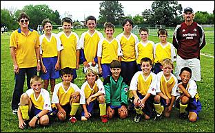 Members of the Karangi Public School soccer team.