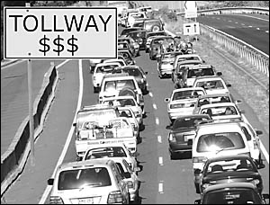 Pacific Highway delays may be a thing of the past if tolls are used to pay for road improvements.
