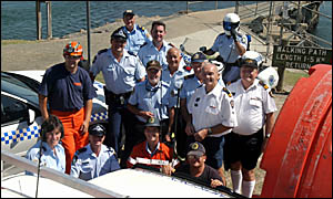 DOZENS of emergency service workers from the Tweed, will take part in a demonstration for local residents next month.