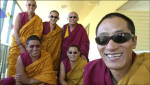 Tibetan monks on their visit to Murwillumbah last year.