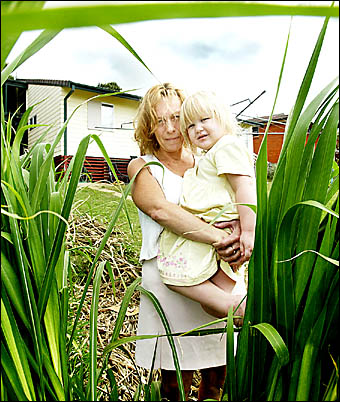 BRAY Park resident Tracey Manz and daughter Tia are concerned about the number of brown snakes appearing in their urban area.