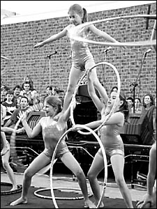IN A TWIST: The Spaghetti Circus kids wow the crowd.