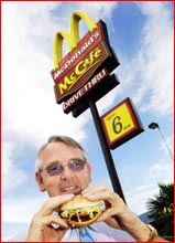 The Armitage family celebrates Clive Armitage?s 30-year involvement  with McDonald?s.  Picture: BEV LACEY