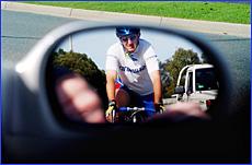 Veteran cyclist Peter Rasmussen has had women members of his cycling group spat at.