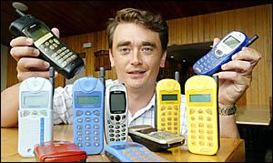 Dan Walton is encouraging everyone to recycle their old mobile phones dur- ing National Recycling Week.