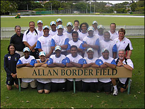 TOURISTS: Members of the East Asia Pacific cricket squad, headed for Oakes Oval, Lismore.