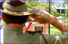 Vietnam veteran Garry Johnston attended yesterday?s Remembrance Day service at Anzac Park.