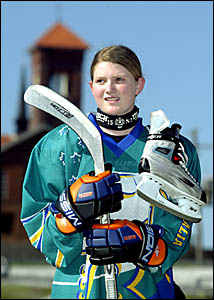 Sharna Godfrey, 16, has been named in the train-on squad for the Australian women?s ice-hockey team.