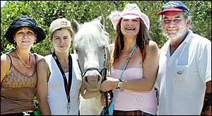 SANDRA Halling, Tara Alexander, horse Morgan, Jodie McKitterick and Gary Payne