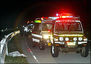 EMERGENCY services personnel attended an accident on the Tweed Bypass only hours before.