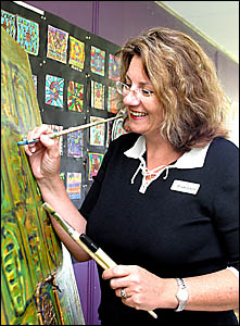 BANORA Point art teacher Lexi Cutcher believes it is important students see their teachers as artists also.